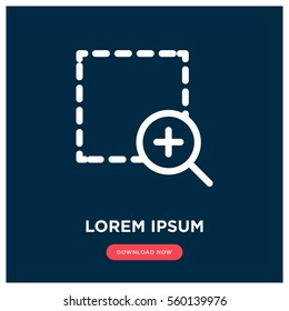 Zoom vector icon, magnify symbol. Modern, simple flat vector illustration for web site or mobile app