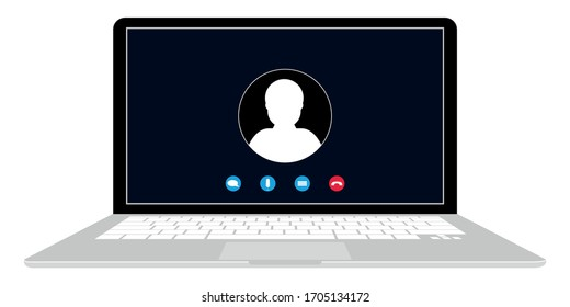 Zoom, viber, dark mod Illustration of webinar, online conference and training. Flat call screen. Vector illustration eps10