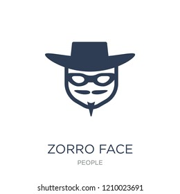 Zorro face icon. Trendy flat vector Zorro face icon on white background from People collection, vector illustration can be use for web and mobile, eps10