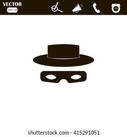 Zorro mask icon