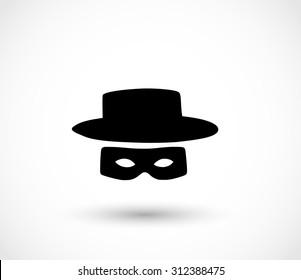 Zorro mask icon vector