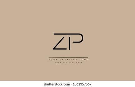 ZP PZ abstract vector logo monogram template