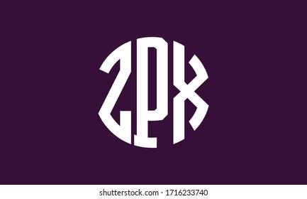 ZPX Circle Emblem Abstract Monogram Letter Mark Vector Logo Template