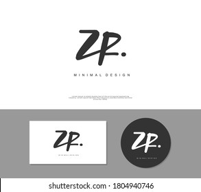 ZR Initial handwriting or handwritten logo for identity. Logo with signature and hand drawn style.