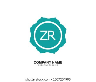 ZR initial logo template vector