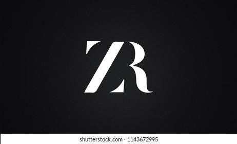 ZR Letter Logo Design Template Vector