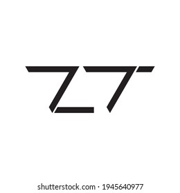 zt initial letter vector logo