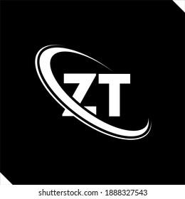 ZT logo. Z T design. White ZT letter. ZT Z T letter logo design. Initial letter ZT linked circle uppercase monogram logo.
