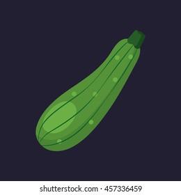 zucchini icon in flat style