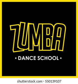 Zumba dance school logo. Aerobic exercise
