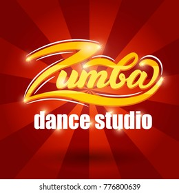 Zumba Dance Studio banner design. Vector Illustration.