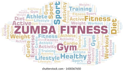 Zumba Fitness word cloud. Wordcloud made with text only.