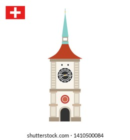 Zytglogge is a landmark medieval tower in Bern