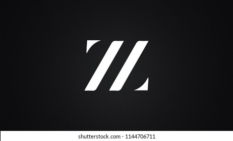 ZZ Letter Logo Design Template Vector