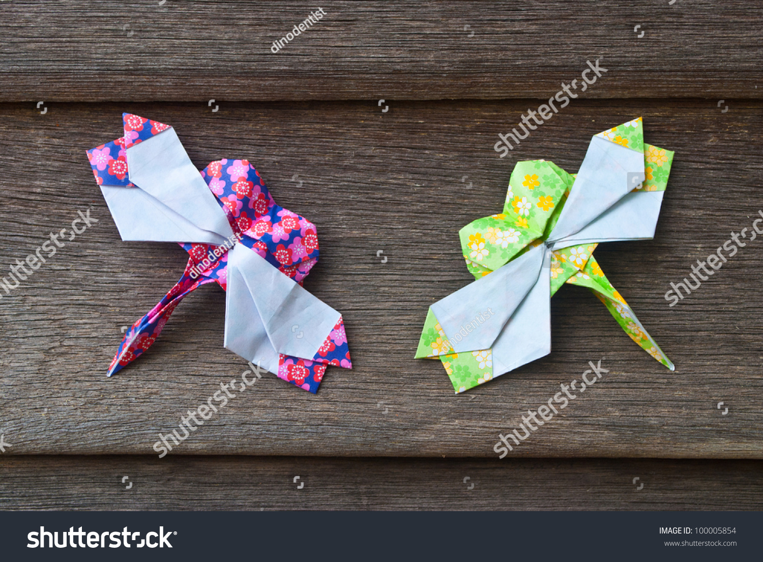 Dragonfly origami on wooden wall stock photo 100005854 shutterstock dragonfly origami on wooden wall jeuxipadfo Image collections