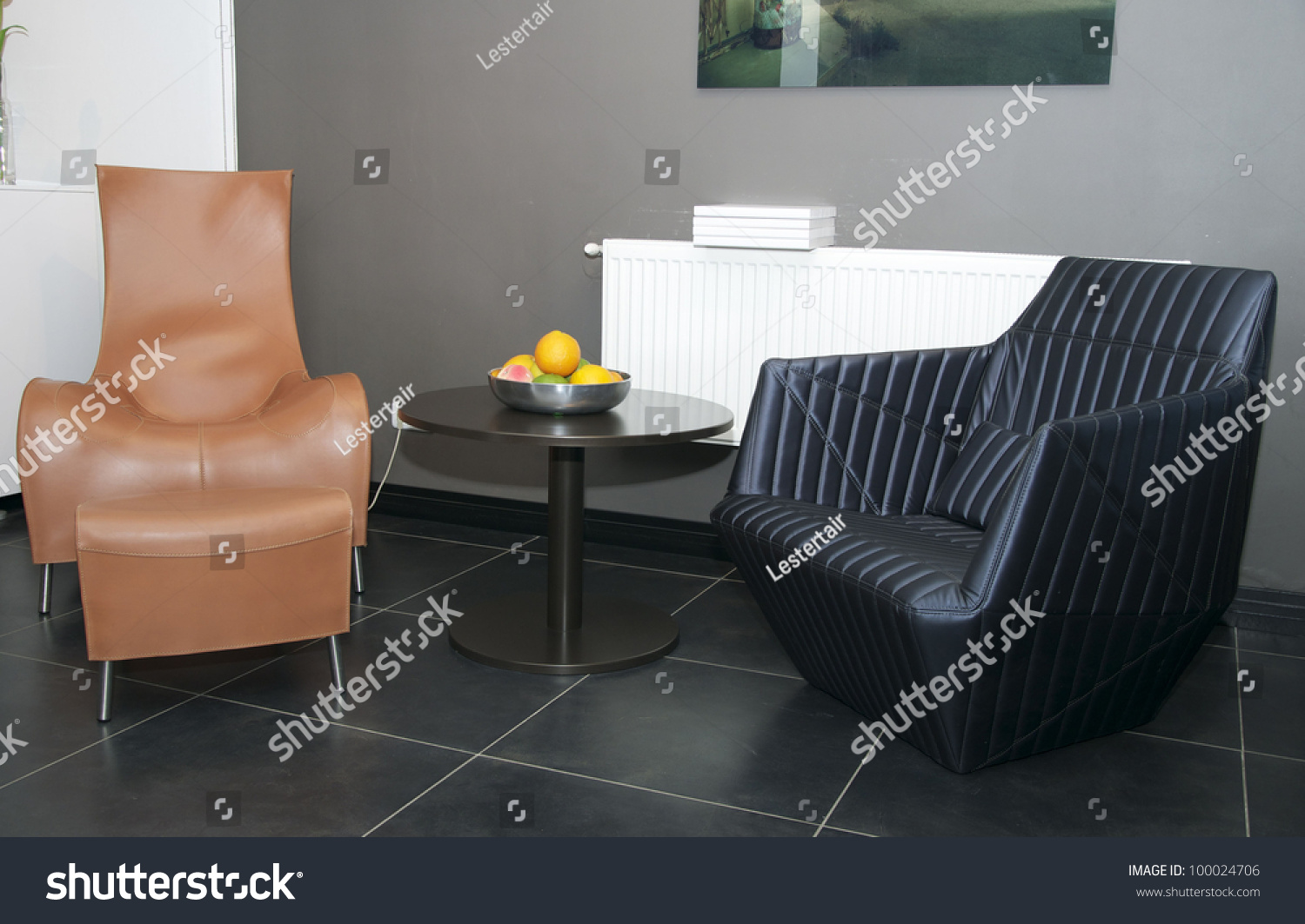 Two Chairs For Relaxing In The Living Room Beside The Table Stock Photo 100024706 Shutterstock