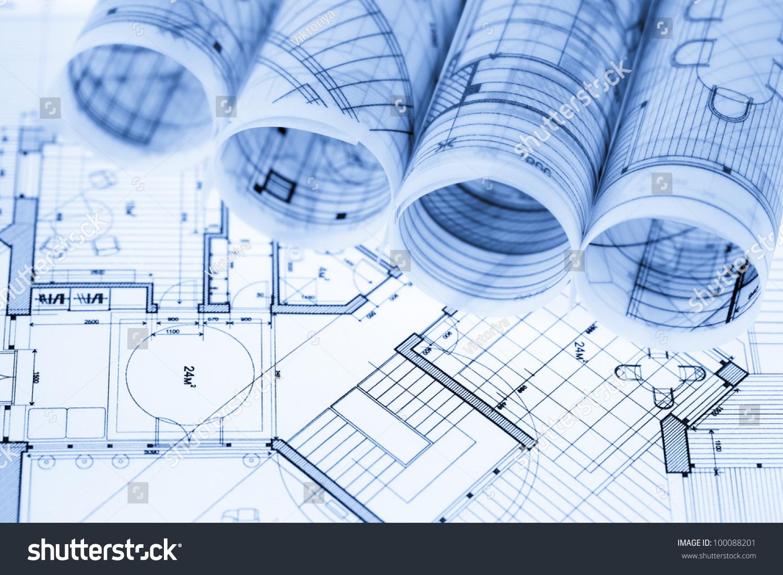rolls of architecture blueprints u0026 house plans