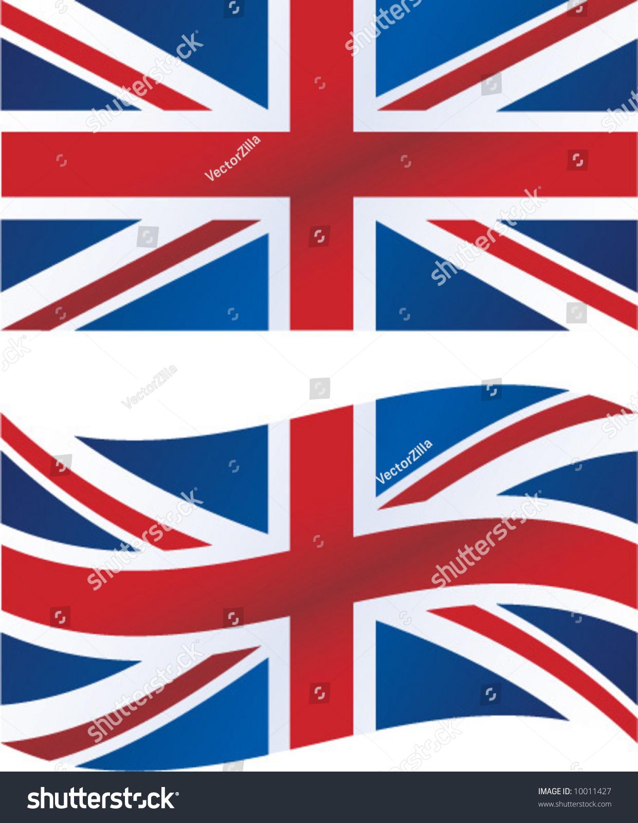 Vector Illustration British Flag Includes Waving Stock ...
