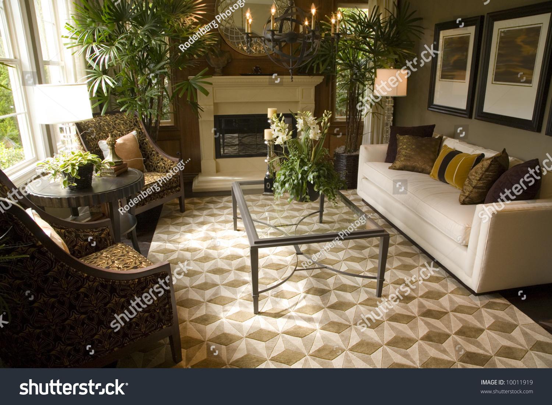 Living Room Contemporary Decor luxury home living room with contemporary decor stock photo save to a lightbox