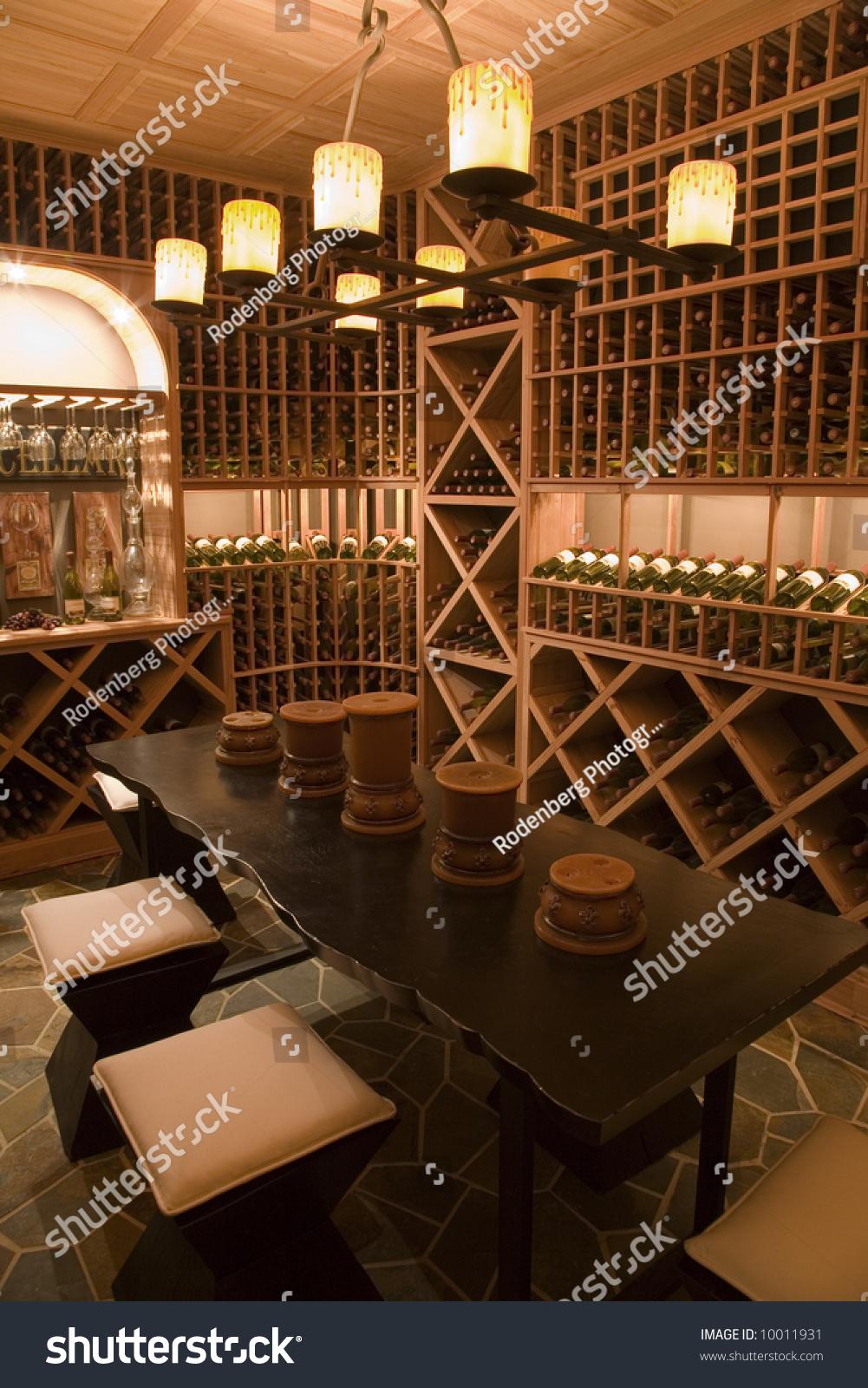 Luxury home wine cellar stock photo 10011931 shutterstock for Luxury home wine cellars
