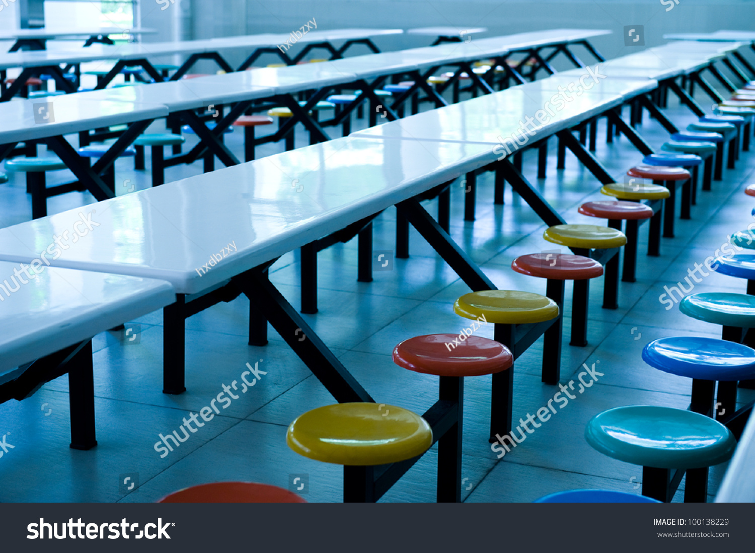 Clean cafeteria tables - Save To A Lightbox