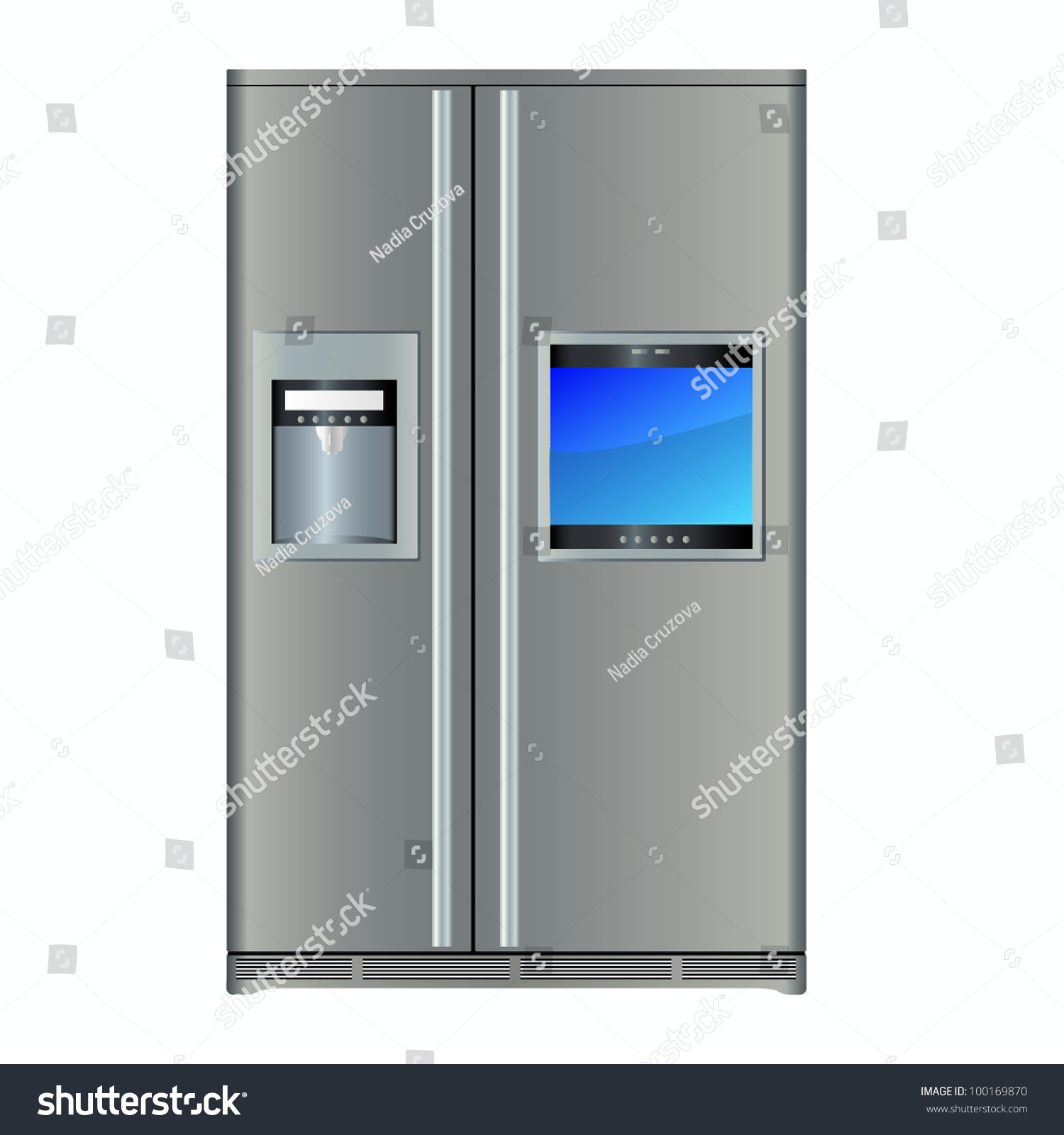 Refrigerator With Built In TV