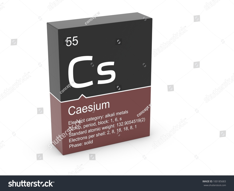 Caesium mendeleevs periodic table stock illustration 100185683 caesium from mendeleevs periodic table gamestrikefo Choice Image