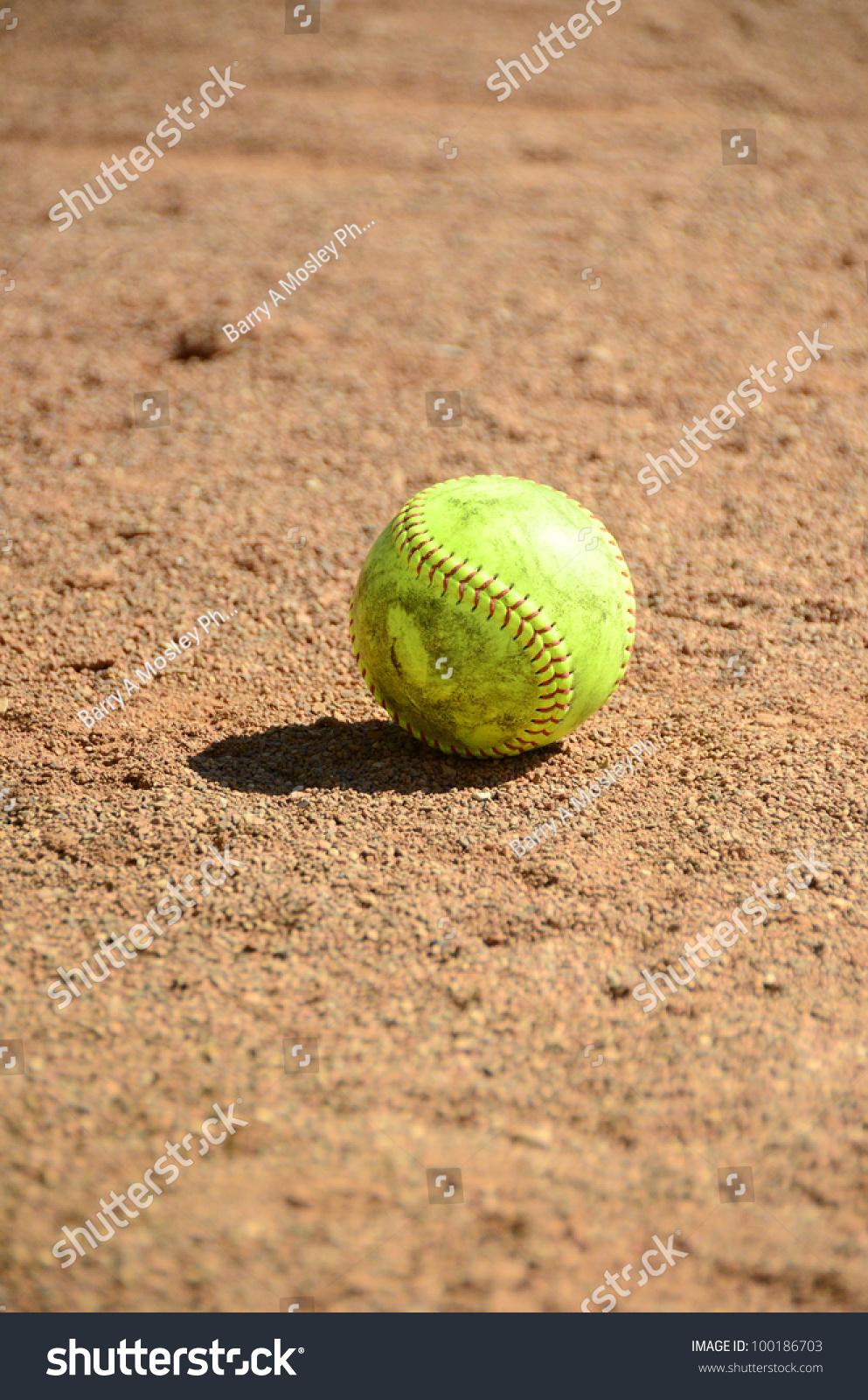 Softball On Field Stock Photo 100186703 - Shutterstock