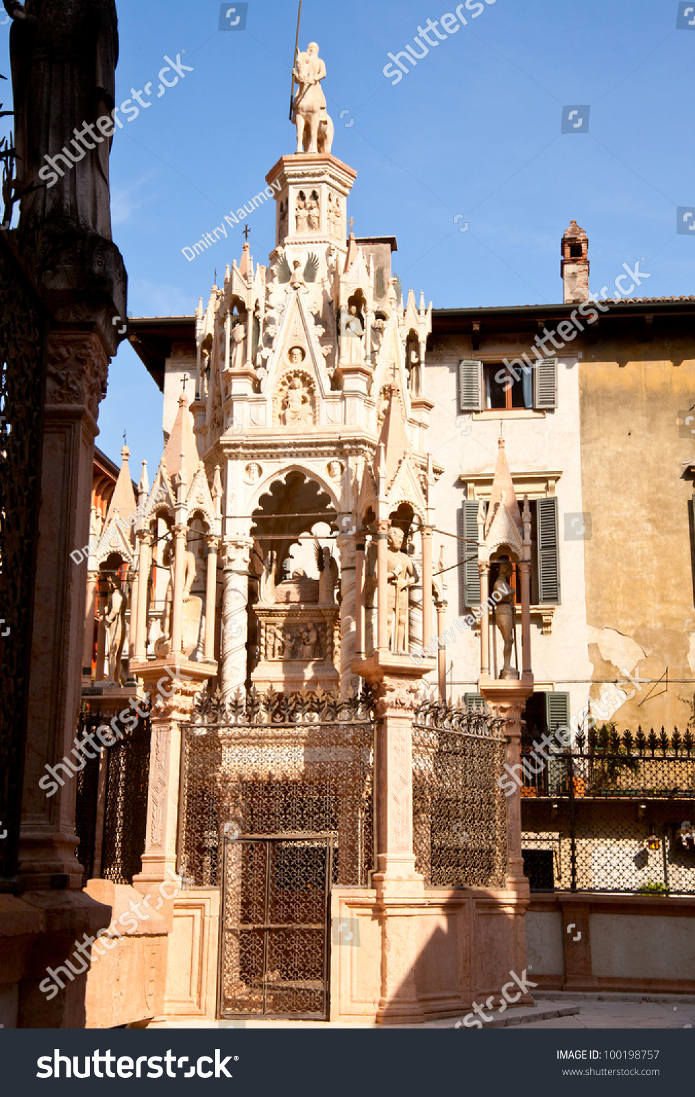 Famous gothic funerary monument Scaliger Tombs Arche scaligere in Verona Italy