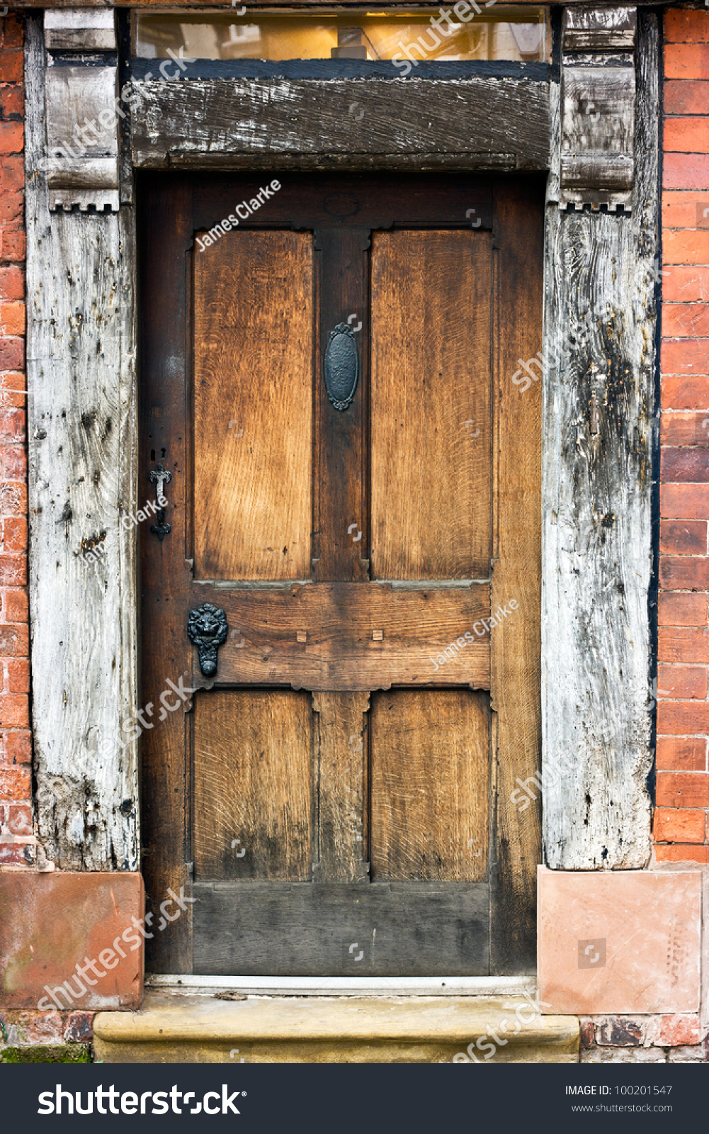 Old Oak Door Frame Window Tudor Stock Photo Edit Now 100201547