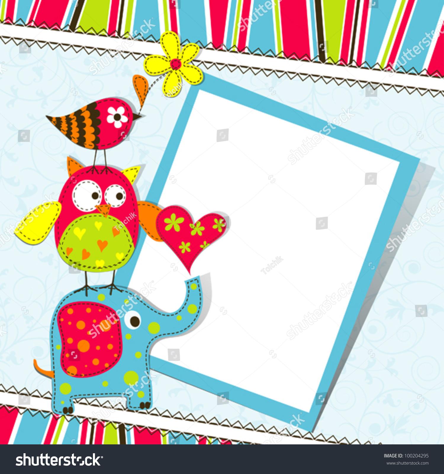 Template Greeting Card Vector Scrap Illustration Vector – Greeting Card Template