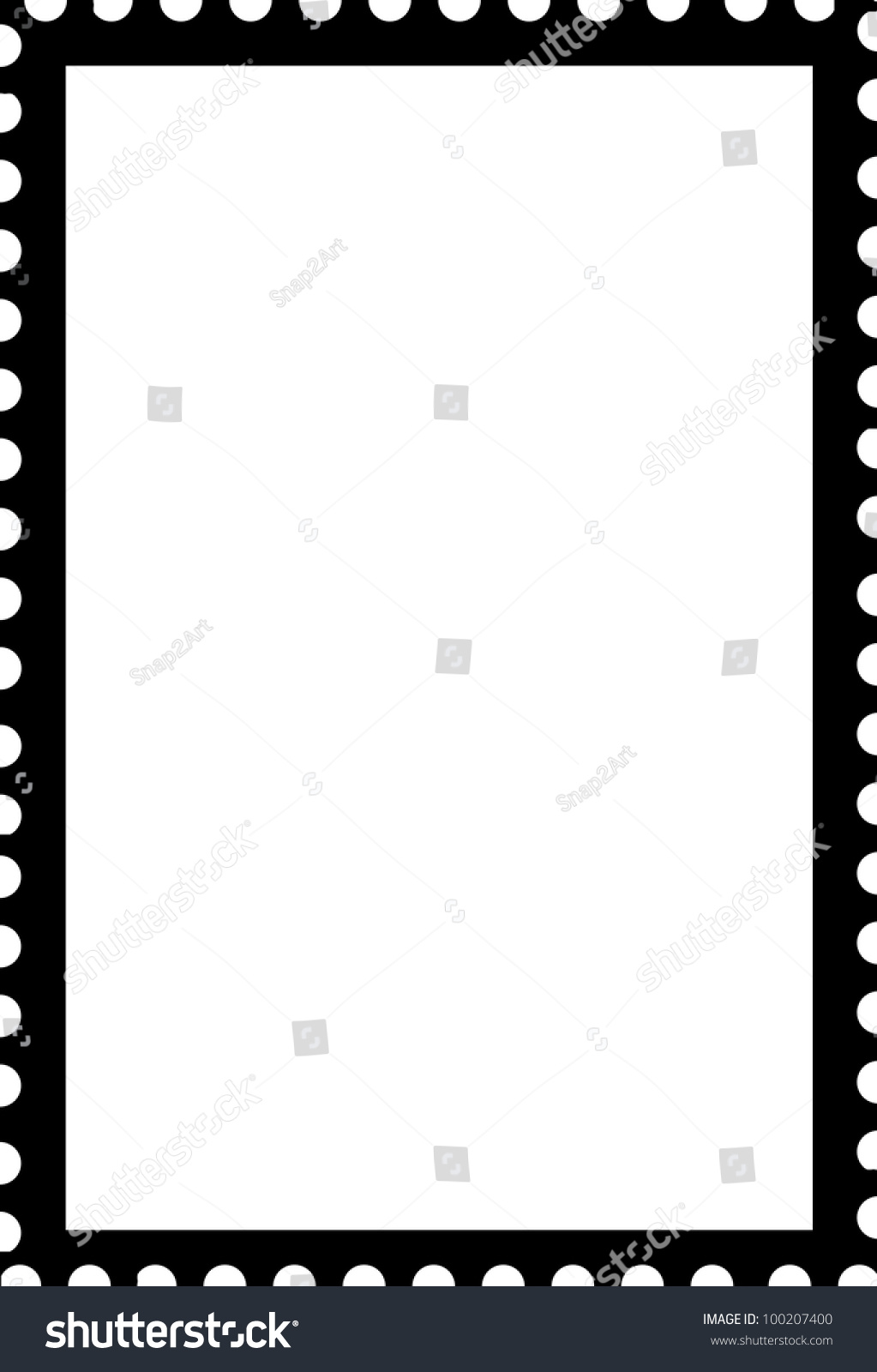 blank open postage edge outline portrait template black on white to create own stamp stock photo. Black Bedroom Furniture Sets. Home Design Ideas