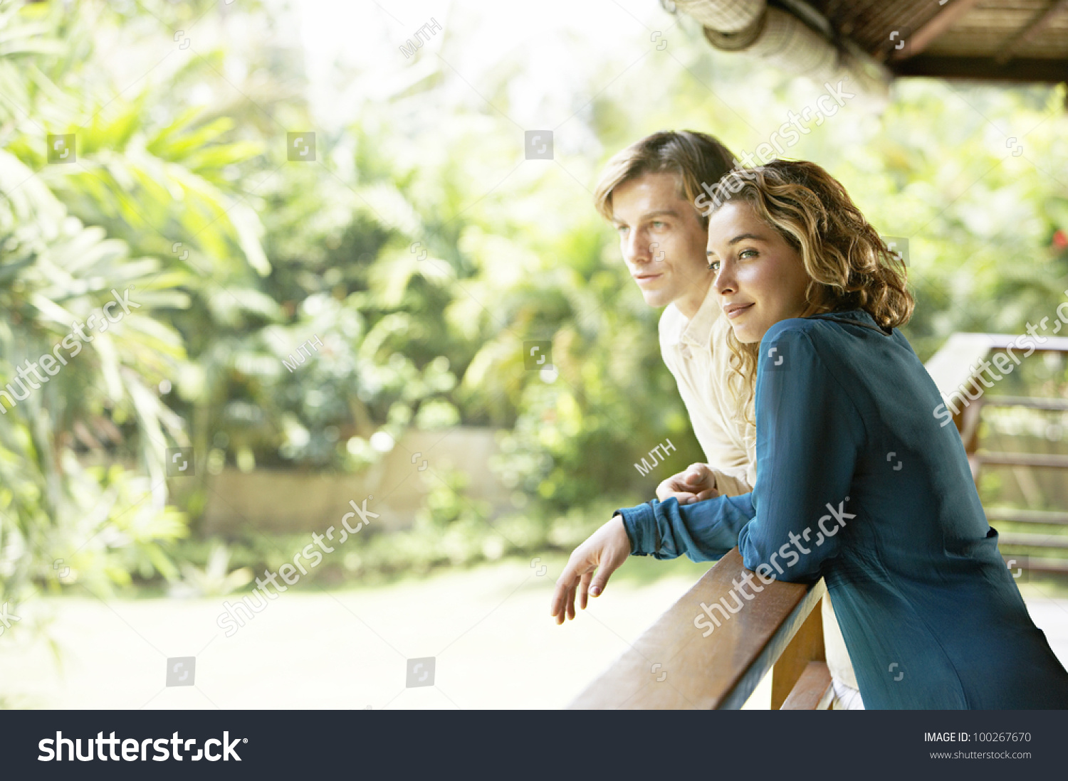 Side view young couple on vacations stock photo 100267670 for Tropical vacations for couples