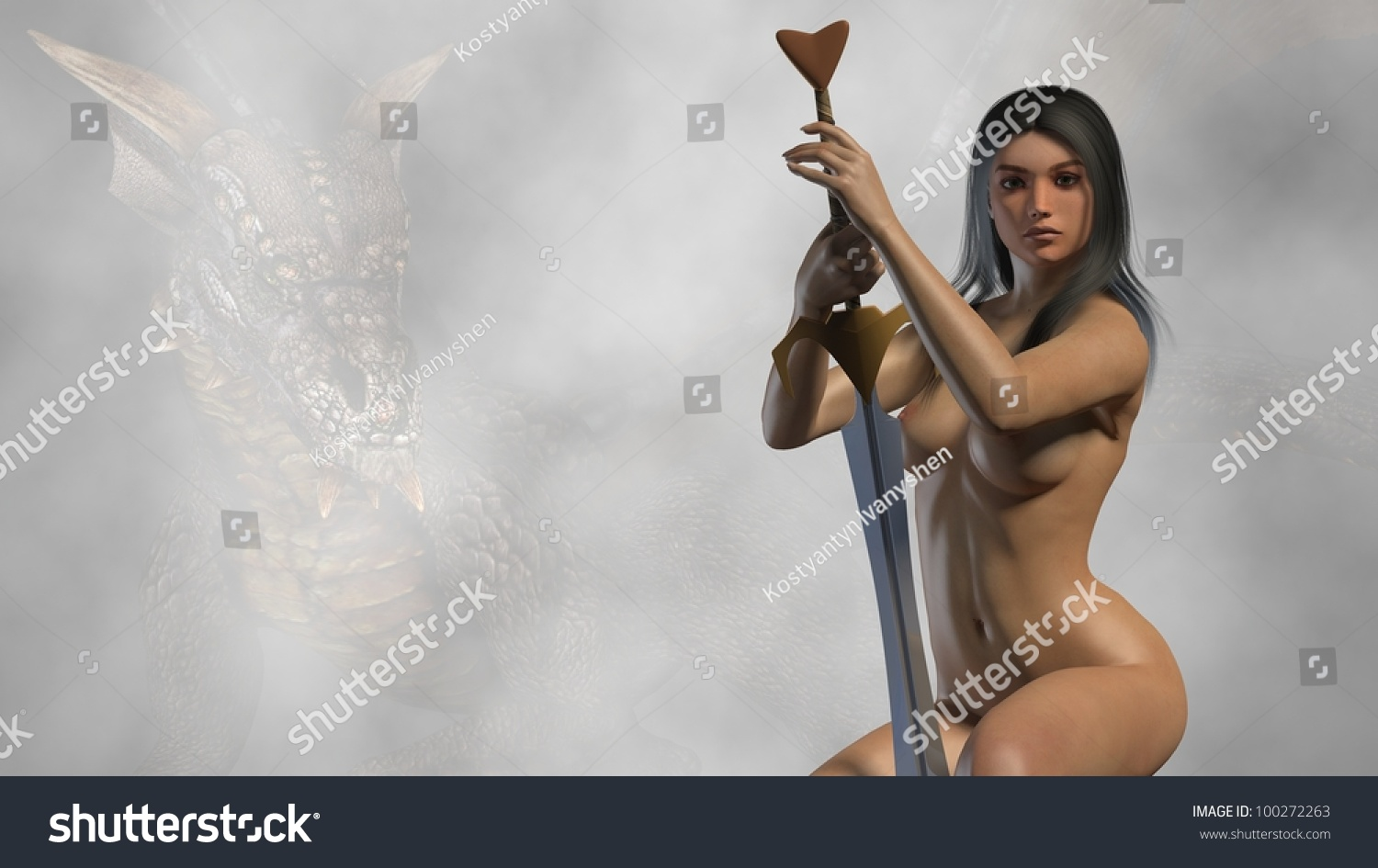 Female fantasy fighters nude nsfw image