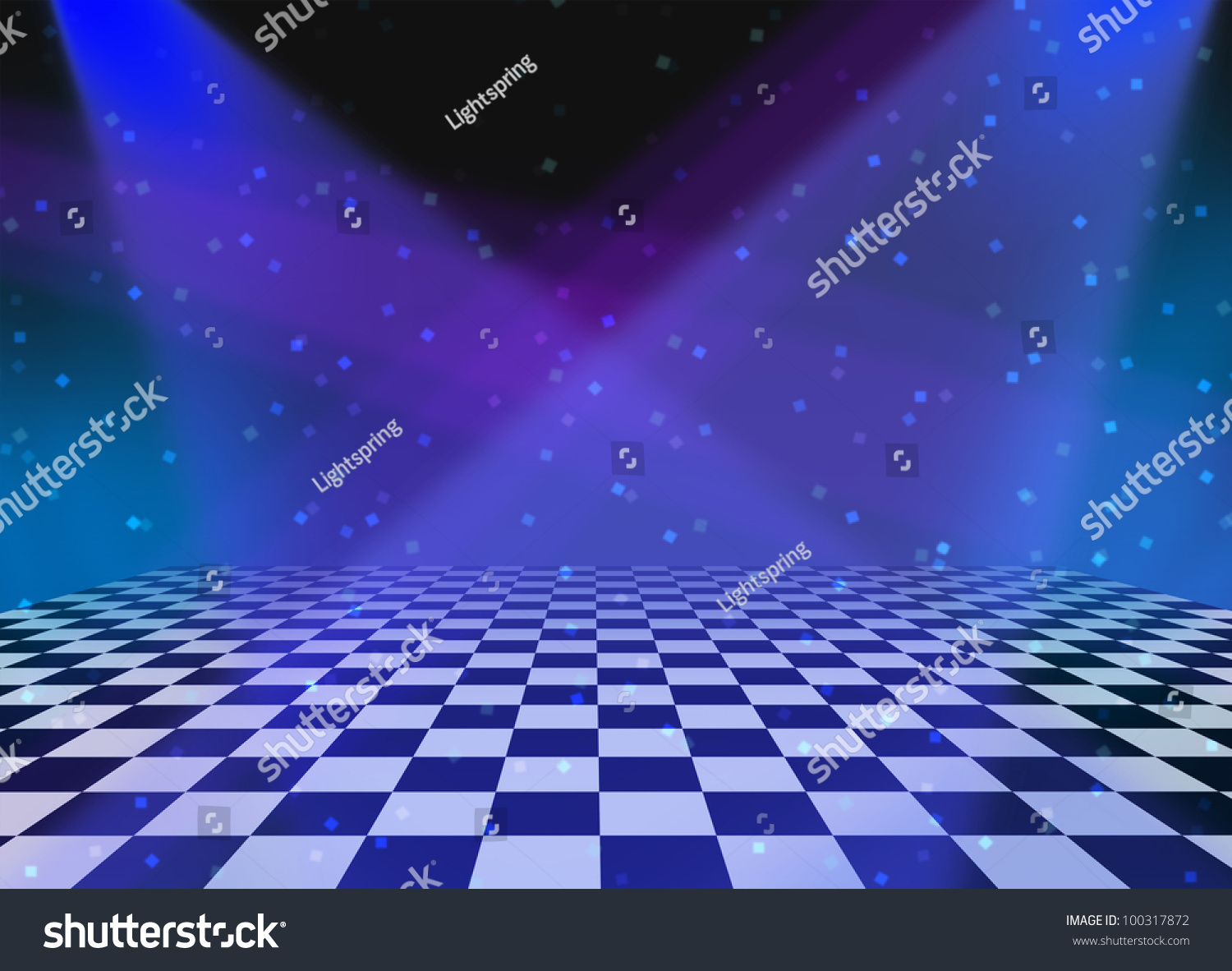 Party Dance Dancing Floor Made Checkered Stock Illustration