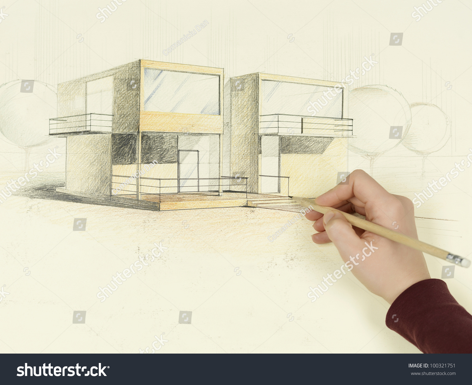Modern house perspective