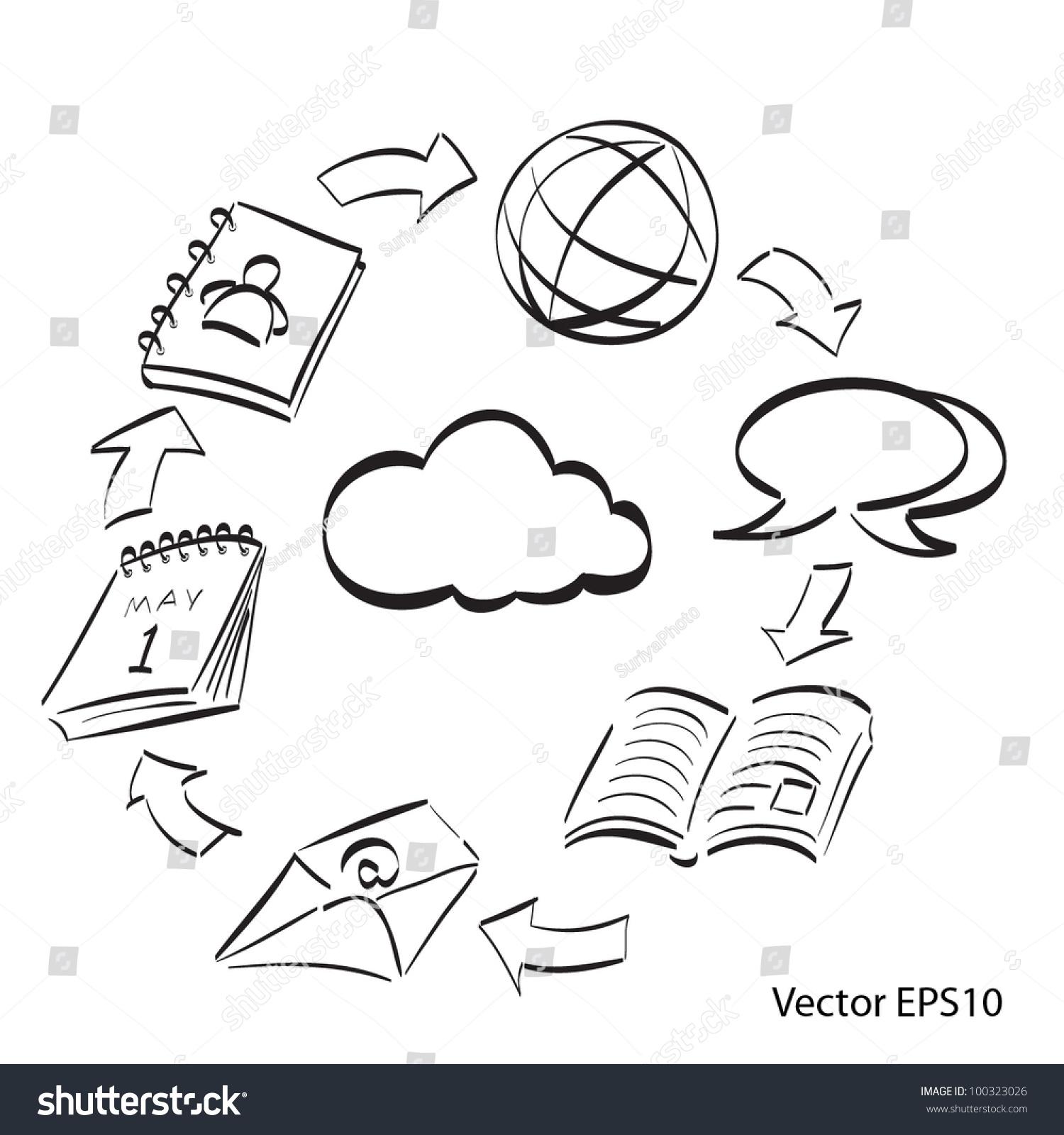 Collaboration diagram stock vector 100323026 shutterstock collaboration diagram pooptronica Choice Image