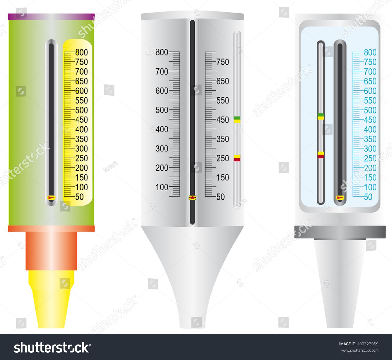 Asthma Peak Flow Meter Peak Flow Stock Vector Royalty Free