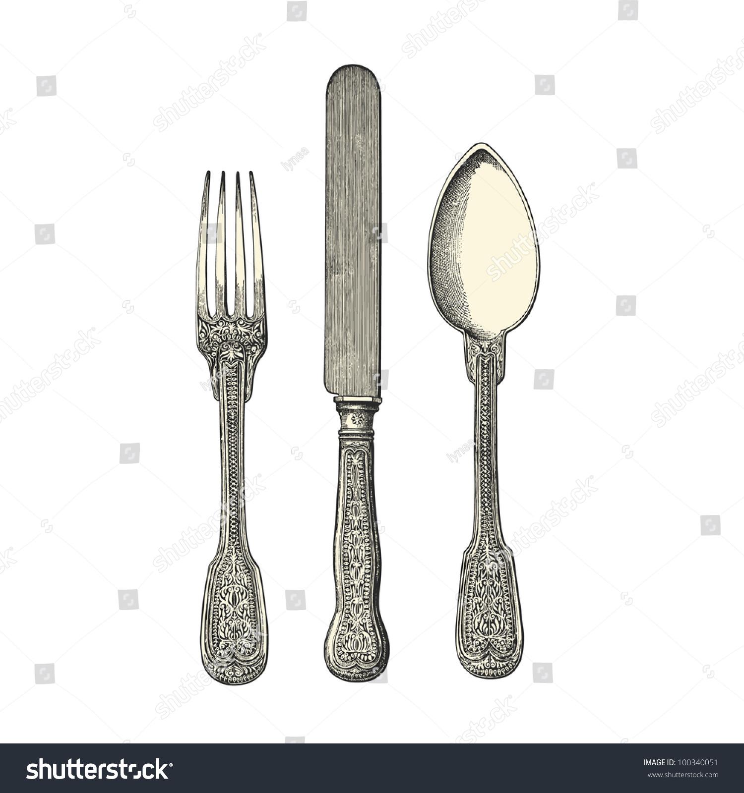Engraved Kitchen Knife Set