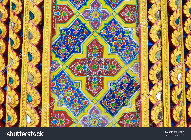 Old Eastern mosaic on the wall, Uzbekistan | EZ Canvas
