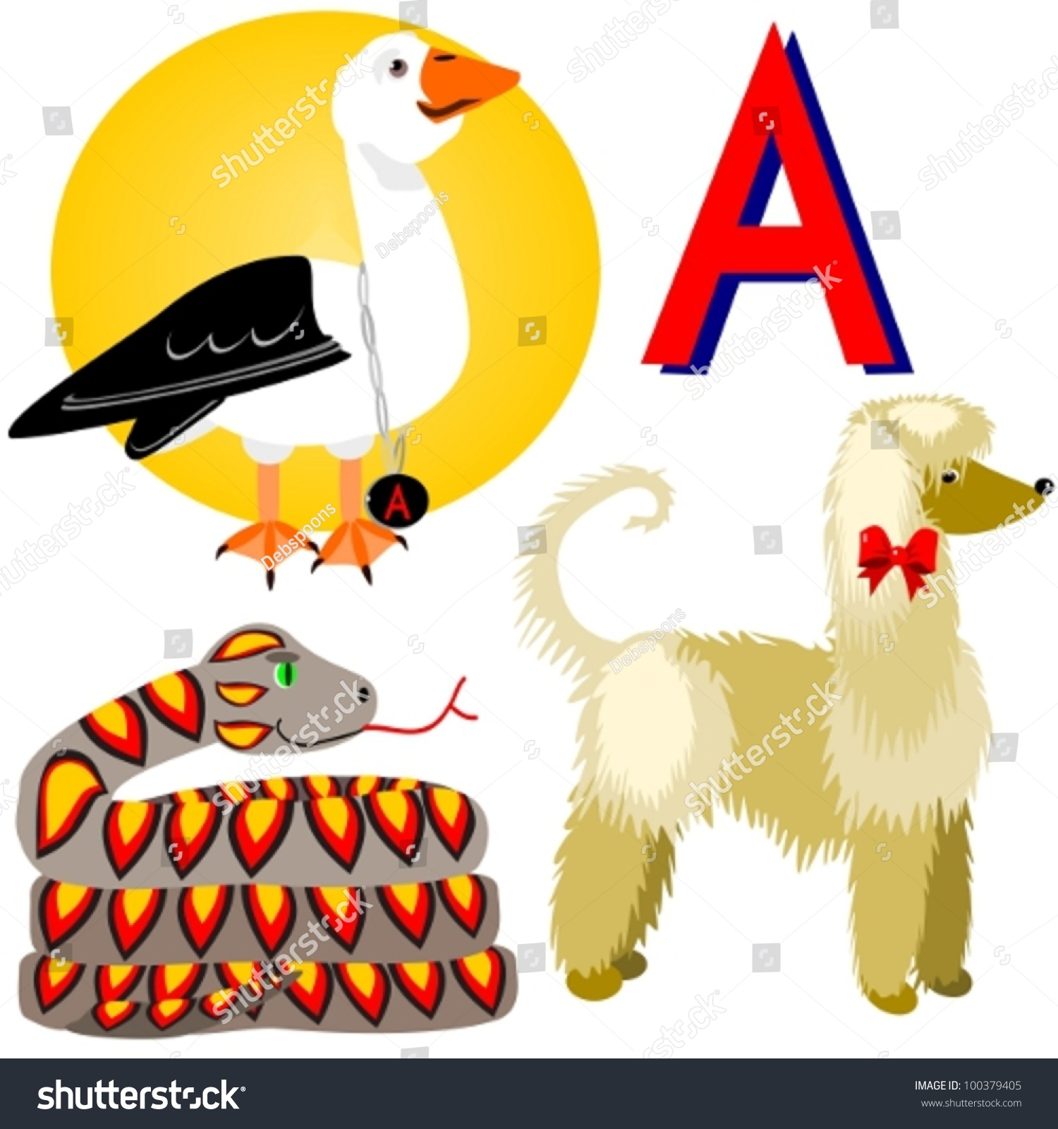 animals that start with the letter i afghan albatross anaconda illustration animals that stock 7386