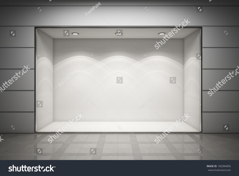 Empty Storefront Shop Stock Illustration 100384856