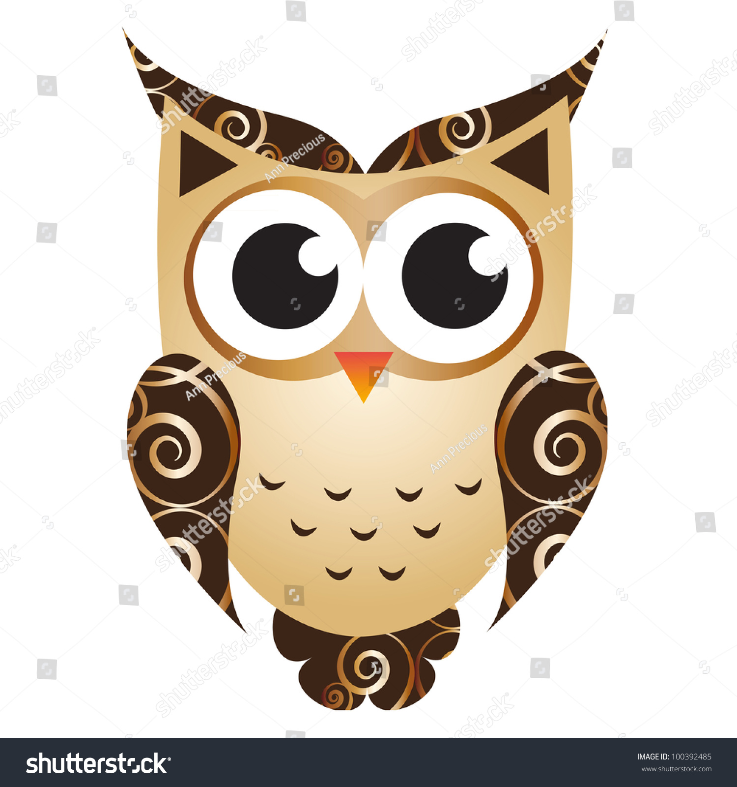 Cartoon Owl Stock Photo 100392485 : Shutterstock