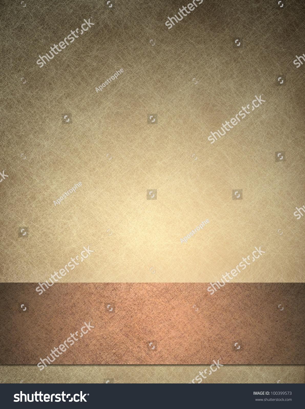 Brown Background Texture Beige Wallpaper Frame Stock Illustration ...