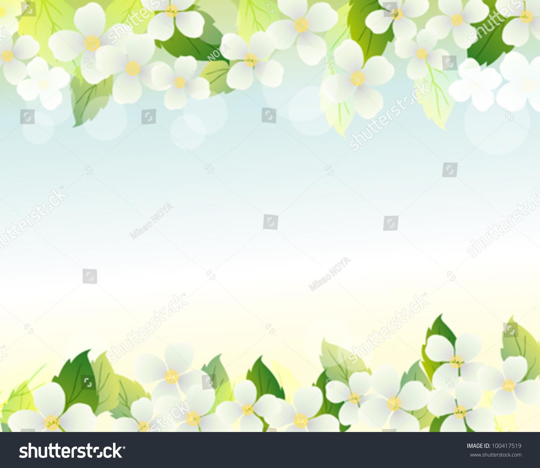 Jasmine Background Stock Vector 100417519