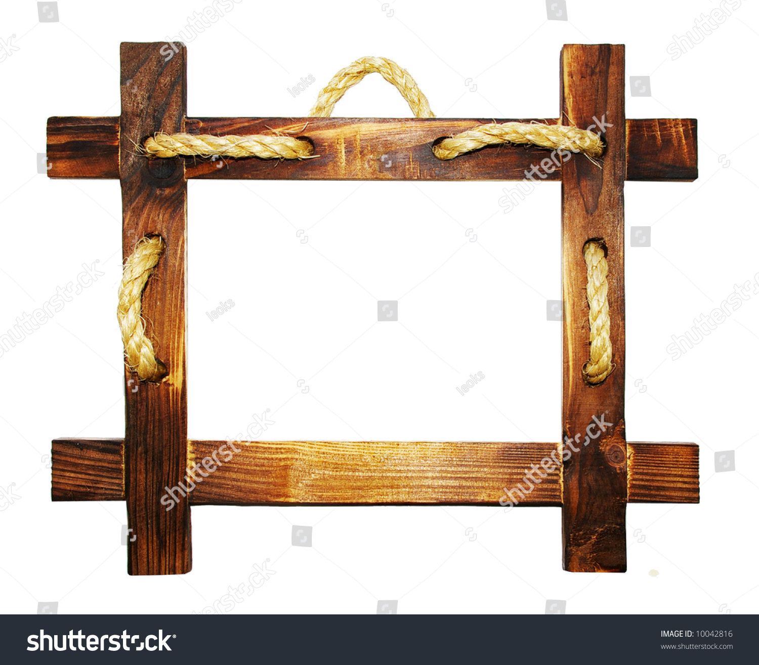 wooden frame with rope