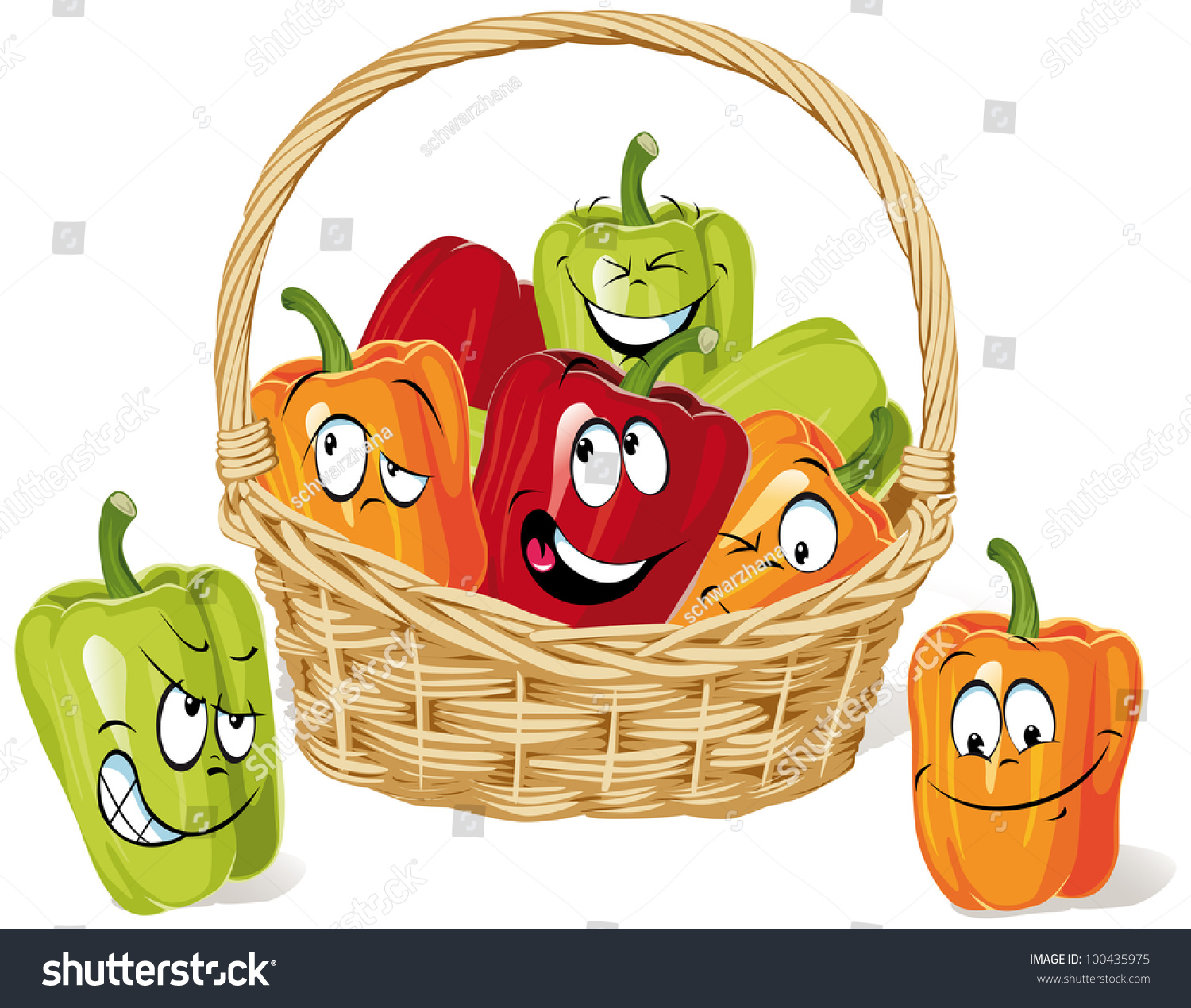 pics for gt cartoon vegetable basket