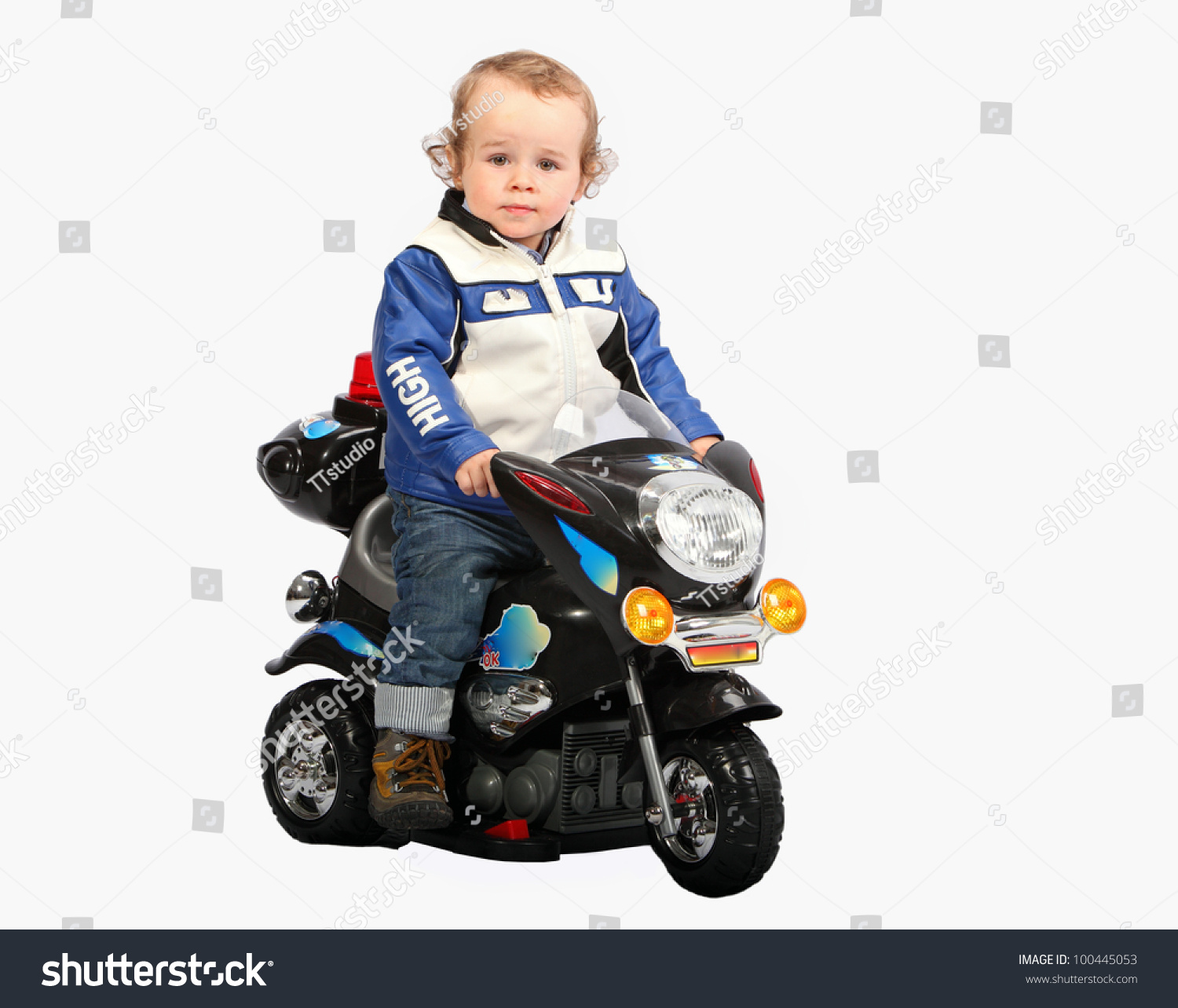 Little Child On Motorcycle Stock Photo 100445053 - Shutterstock