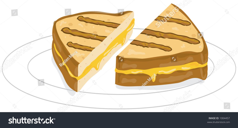 illustration grilled cheese sandwich stock illustration