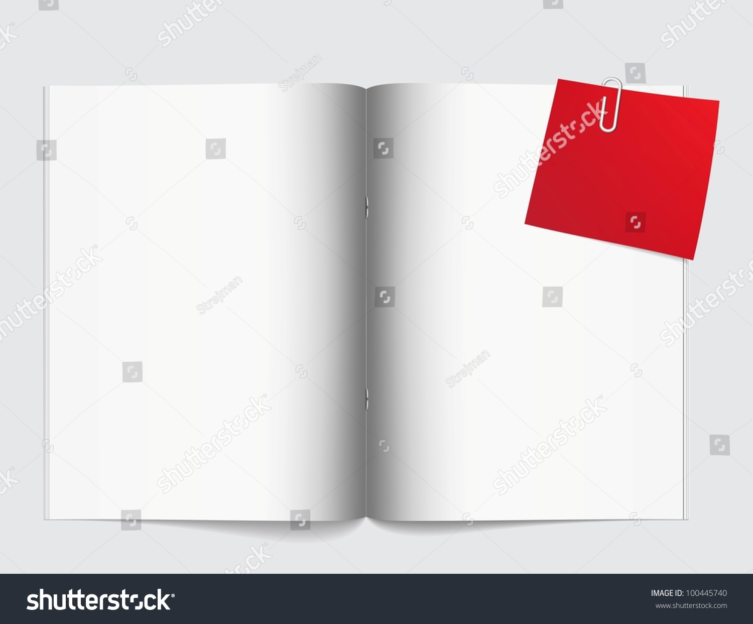 Magazine Blank Page Template Design Layout Stock Vector 100445740